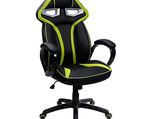 furmax gaming chair robotu0027s eye series high back executive bucket seat pu leather and mesh office chair computer swivel lumbar support chair green video