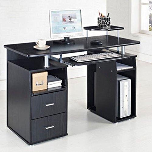 Computer Desk PC Table Desktop Workstation W/ Monitor Printer Shelf Home  Office