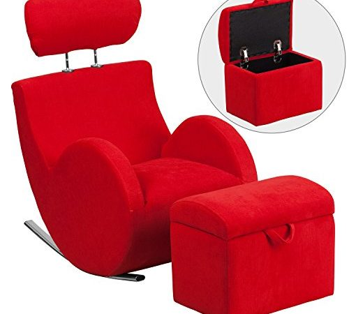 Flash Furniture Hercules Series Red Fabric Rocking Chair